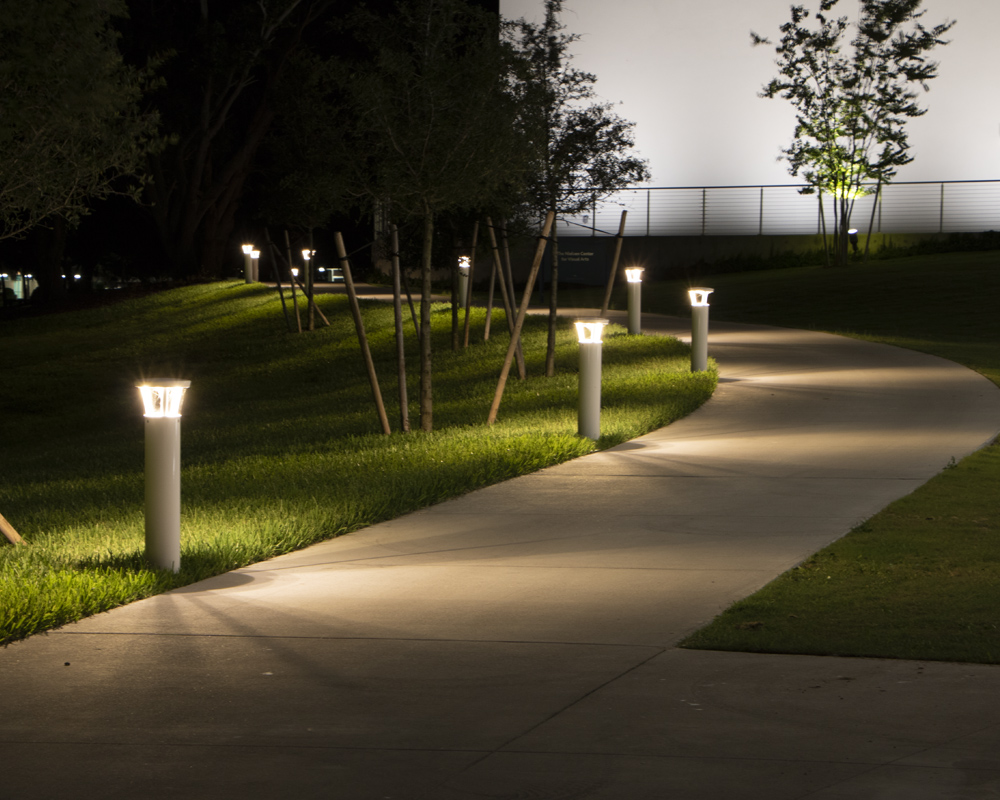 Solar pathway lighting with ultra-efficient PLB-AC bollards