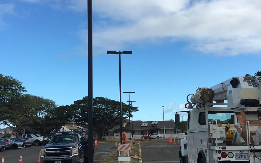 Solar Lights Increase Safety of Military Base Parking Lot