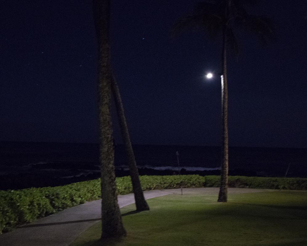 Solar Luminaire at Night - First Light Technologies
