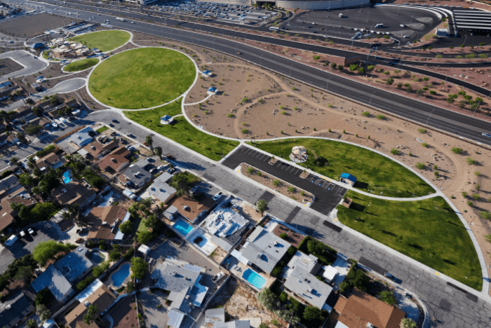 Siegfried And Roy Park aerial view