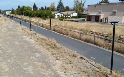 Rail With Trail Project Illuminated by Solar
