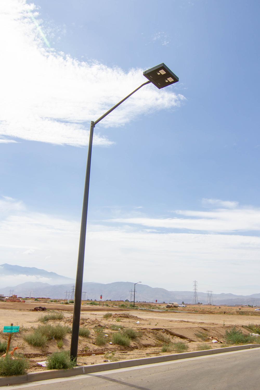 Solar Streetlights, Beaumont, California.