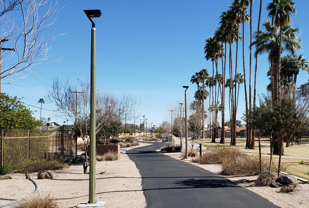 Shared Use Pathways Illuminated by Solar